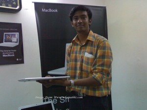 Don't Look after me , I am not well dress not even shaved. Have look to Macbook Air in my Hand, so thin.